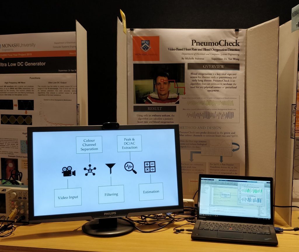 Two screens in front of my stall at Spark Night